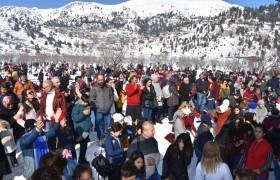 Adanalılar Kar Festivali İçin Kızıldağ Yaylası'na Akın Etti