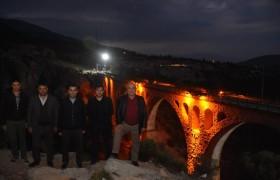 """Başkan Aslan """"Varda Köprüsü Işıklandırma Çalışmasını ve Macera Parkı Çalışmasını İnceledi"""""""