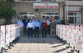 Karaisalı'da Okullara Dezenfektan Makinası Dağıtıldı